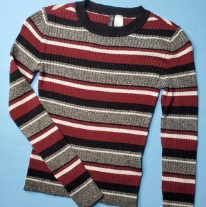 2/$20 shirts Striped longsleeve sweater